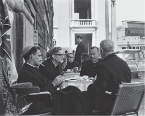 Bishop Rush and bishop Young at Vatican II
