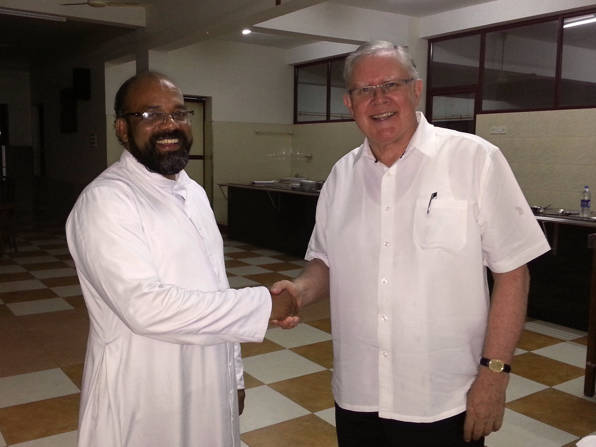 Archbishop Mark Coleridge in Kerala, India. Jan 2015