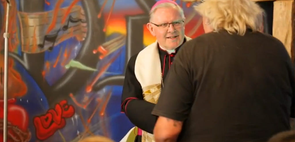 Archbishop Mark Coleridge Blessing Blind Eye Ministries