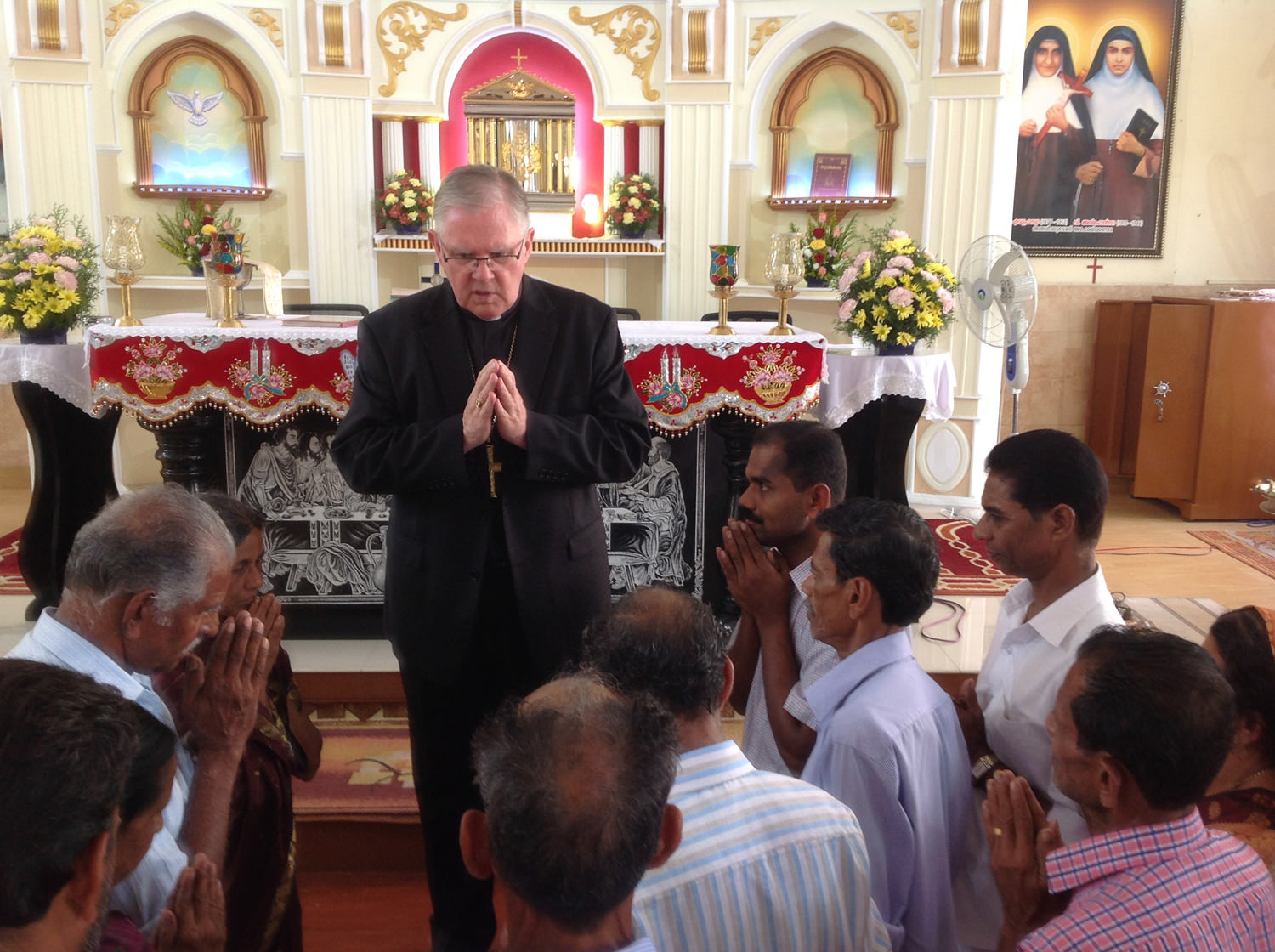 Praying with families of CMI priests ministering in the Archdiocese of Brisbane