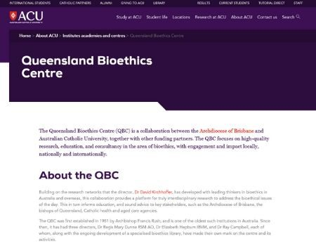 Queensland Bioethics Centre